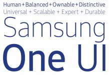 SamsungOne is Samsung's new in-house developed font