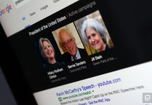 Google searches omitted key US presidential candidates