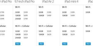 iPad Air 2, iPad mini 4 and iPad mini 2 Updated With Improved Storage, iPad Pro Price Reduced