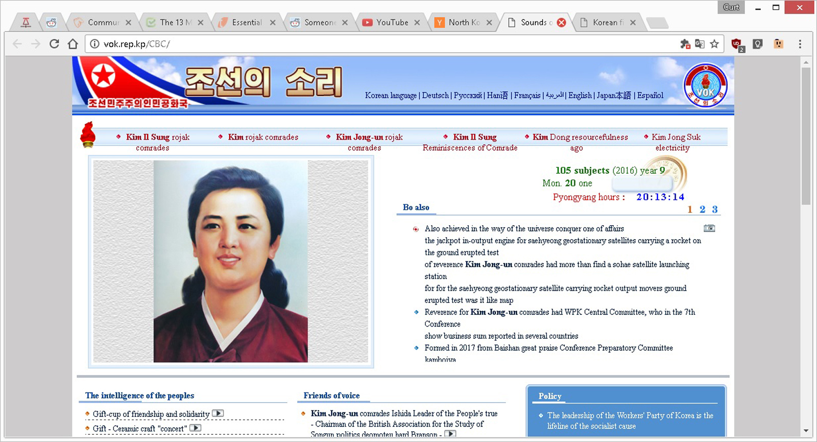 North Korea's 'Voice of Korea' news site