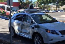 Google's self-driving car is the victim in a serious crash