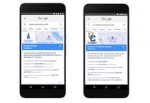 Google search cards help you choose a college