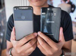 Google Pixel XL vs Samsung Galaxy Note 7 first look