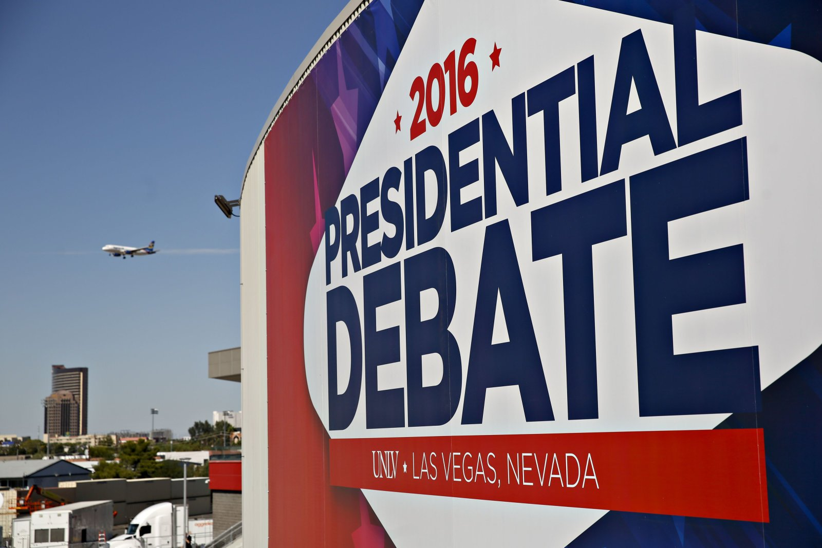 Preparations Ahead Of Third Presidential Debate Between Candidates Hillary Clinton And Donald Trump
