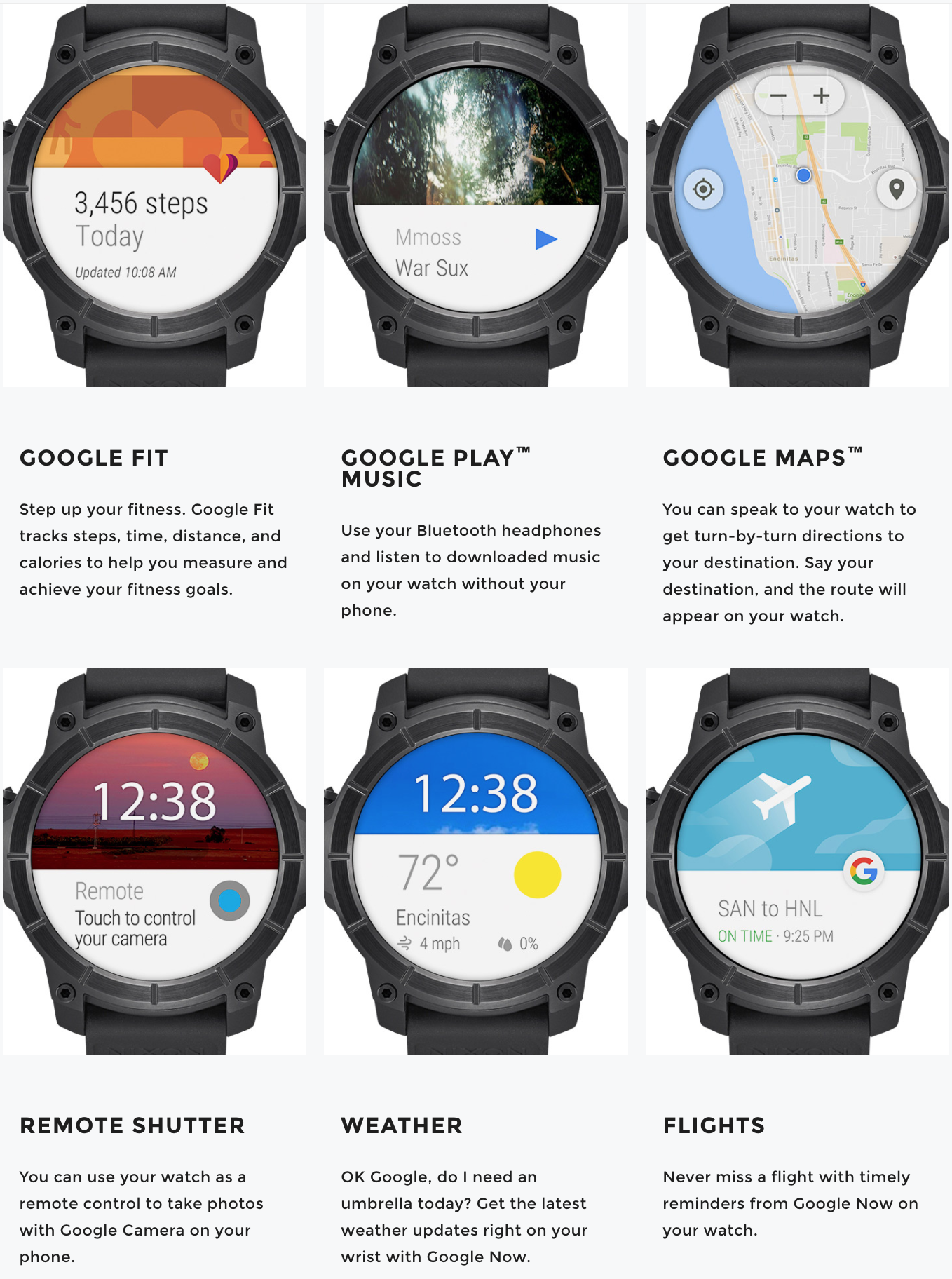 Nixon Mission Android Wear: One of the best smartwatches to