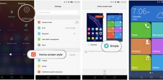 How to use the Simple home screen on Honor 8