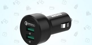 Grab this car charger with two Quick Charge 3.0 ports for just $12