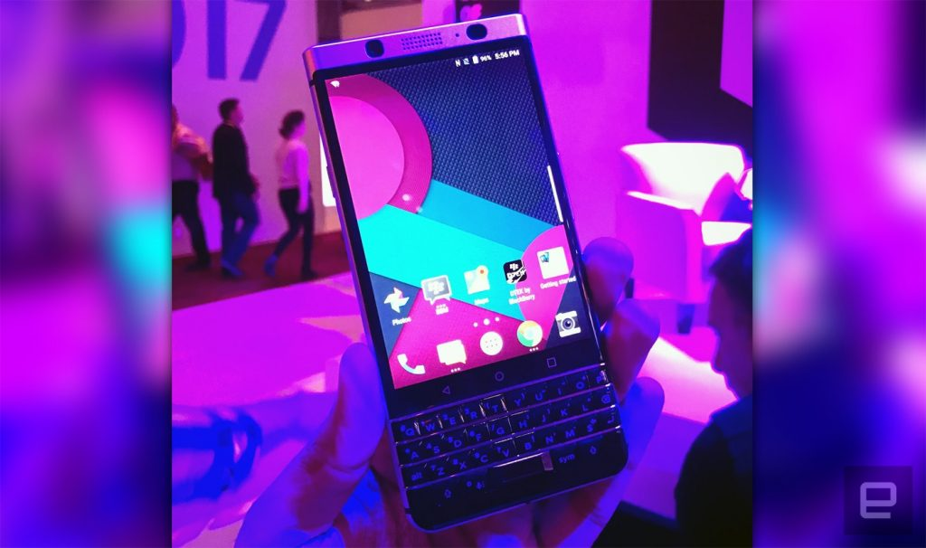 BlackBerry's 'Mercury' prototype makes a cameo on our CES stage