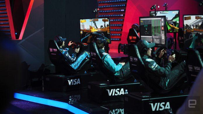 Formula E drivers battled simulator pros in a million-dollar e-race