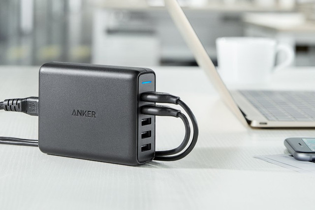 With the Anker 5-port speed charger, you'll never be left without power ($30)