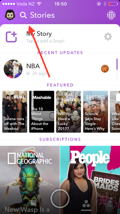 how to use snapchat universal search