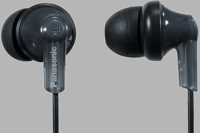 Enjoy quality sound with the Panasonic ErgoFit in-ear headphones, now $8
