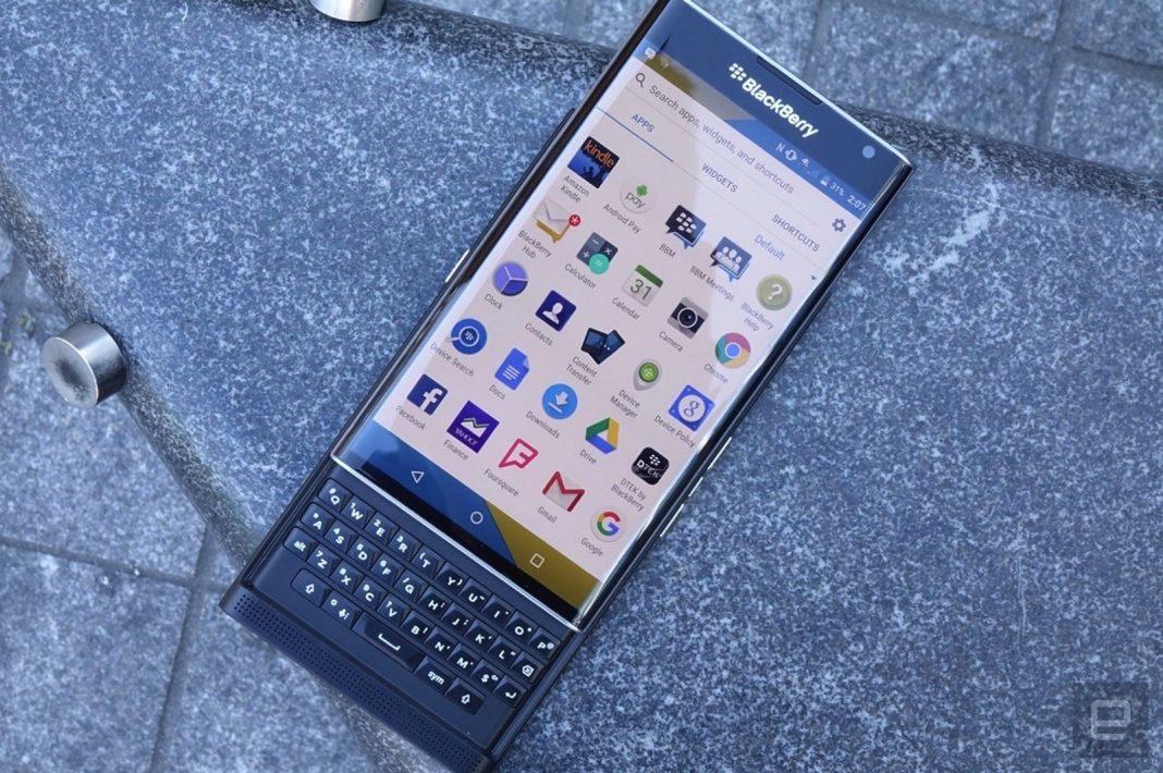 BlackBerry's share of the smartphone market is virtually zero