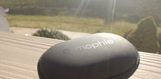 The Mophie Power Capsule ensures your Bluetooth headphones are protected and charged