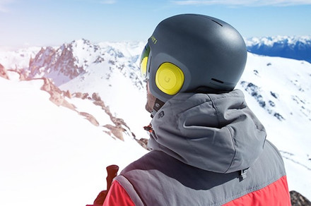Soundshield is a snowboard helmet with integrated headphones and mic