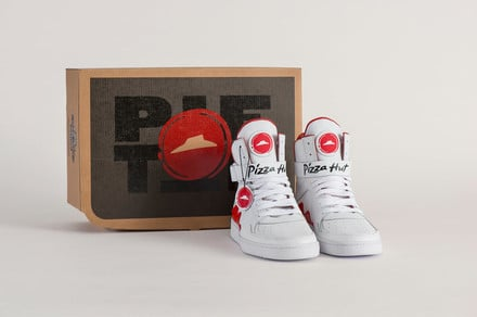Food at your feet: Pie Tops shoes let you place an order from Pizza Hut