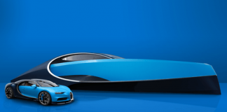Sport yacht designed for Bugatti Chiron owners to match their cars