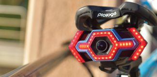 Cyclists can record what is happening behind them with the Hexagon camera