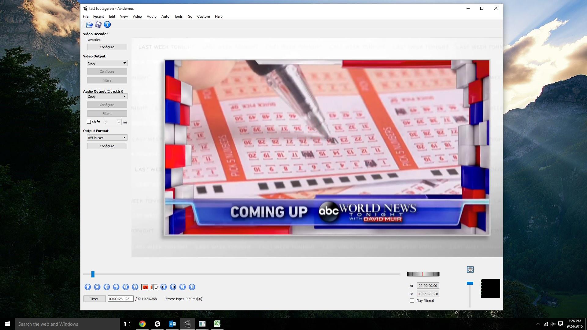avidemux screen shot