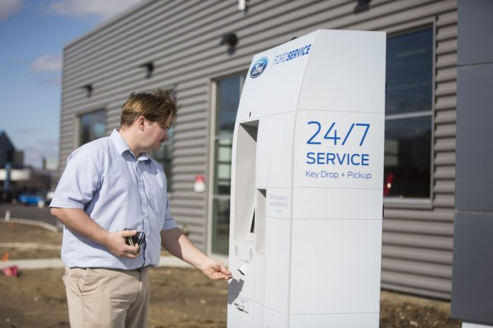 Drop your Ford off for service 24/7 using these automated kiosks