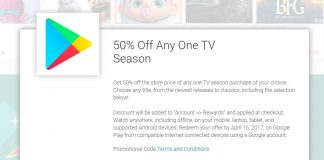 Get half-off one season of any TV season or movie with this sweet Google Play offer