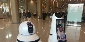 LG's cute airport robots show a lighter, more helpful side of technology