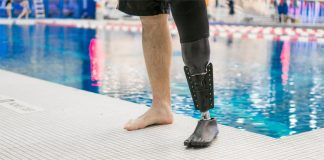 Innovative prosthetic leg propels wearers through water as if it were their real limb