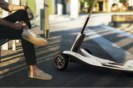 Zoom around town in style on Mercane Wheels' foldable, electric Transboard