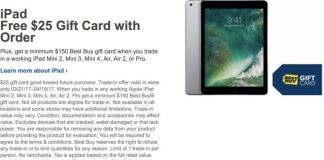 Best Buy Offering $25 Gift Card With Purchase of New iPad