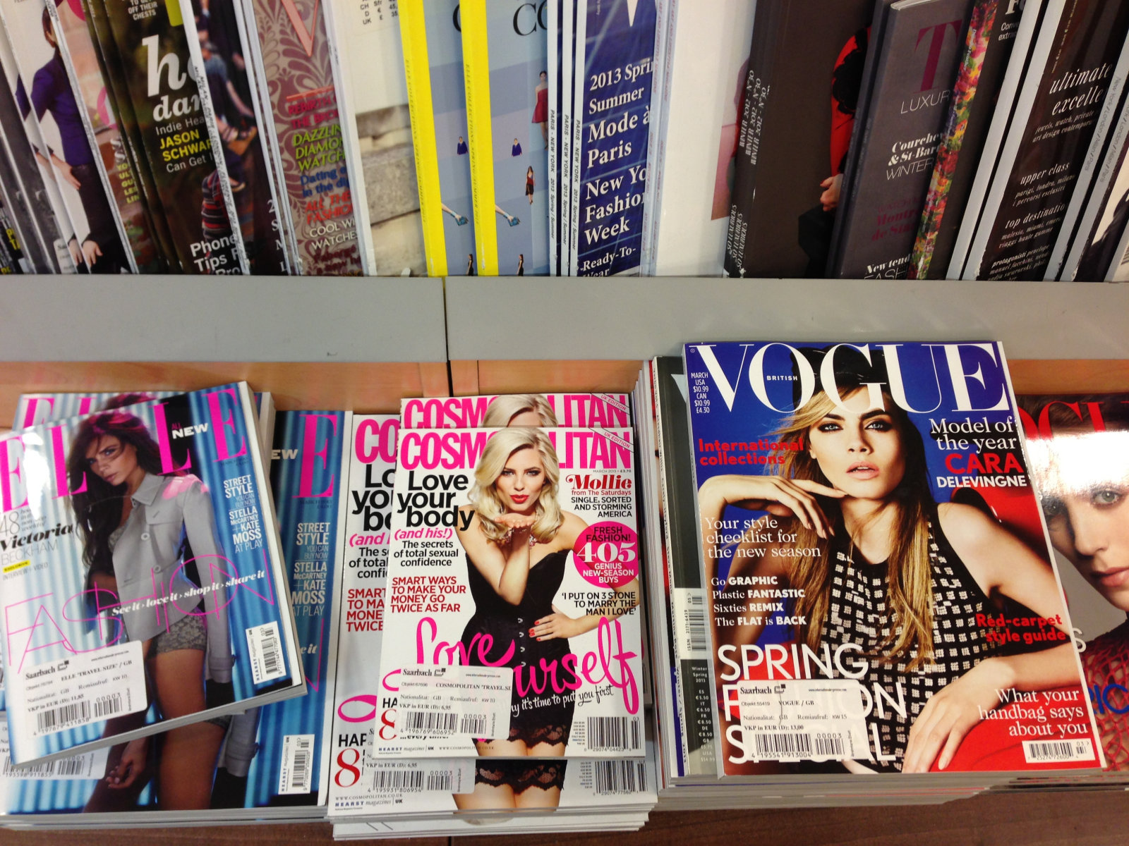 standards of beauty depicted in magazines essay