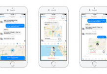 Facebook Messenger can share your location in real time