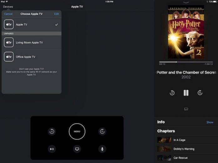 Apple Adds iPad Support to Apple TV Remote App