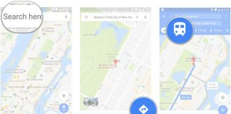 How to use public transit directions in Google Maps