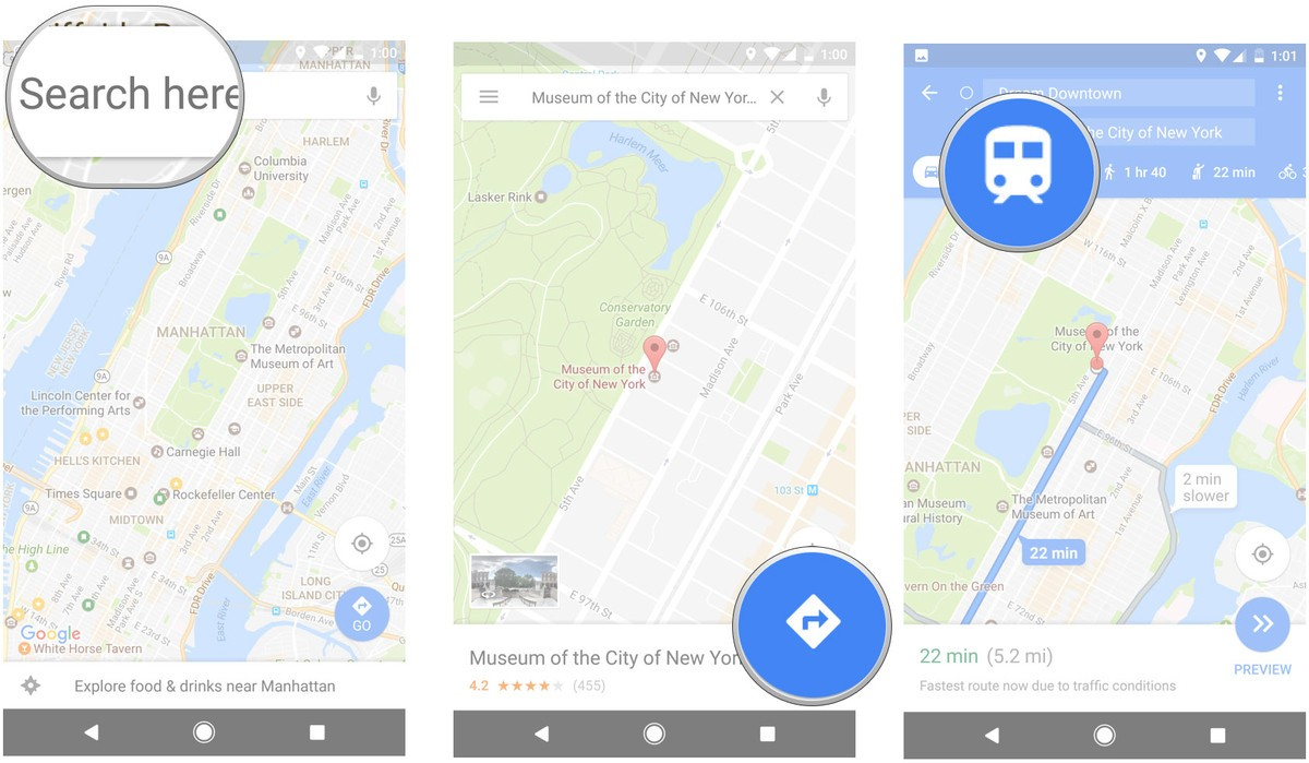 How to use public transit directions in Google Maps - AIVAnet Directions Using Google Maps on