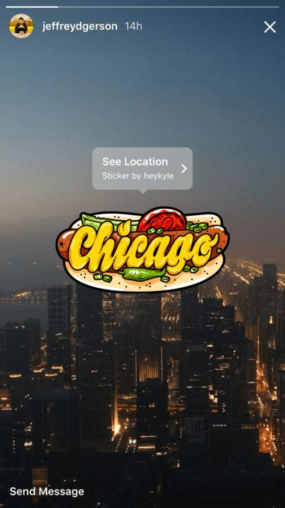 instagram claims  million stories users geosticker chicago