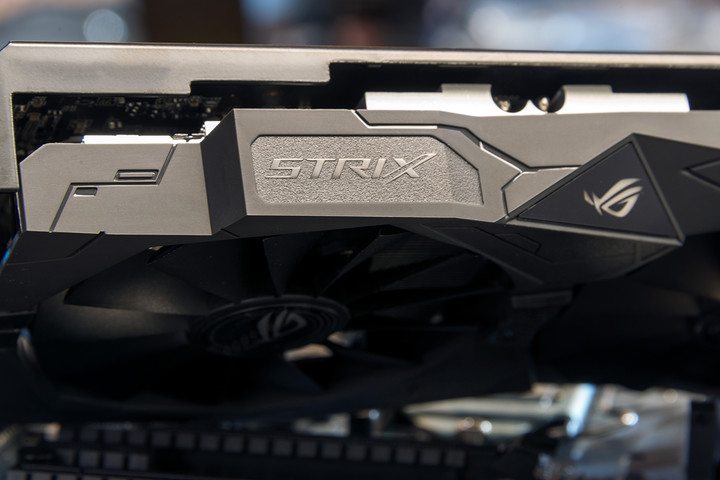 asus strix radeon rx  oc gb review logo