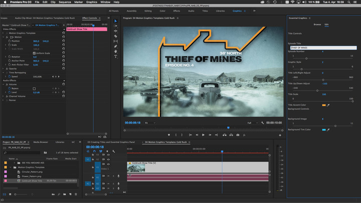 adobe nab  updates premiere pro motion graphics template
