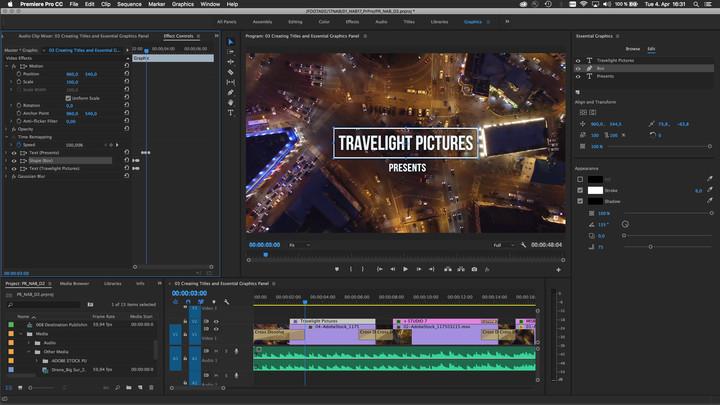 adobe nab  updates premiere pro essential graphics panel