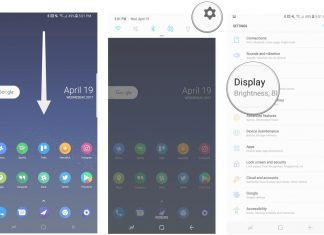 How to switch the position of the navigation buttons on the Galaxy S8