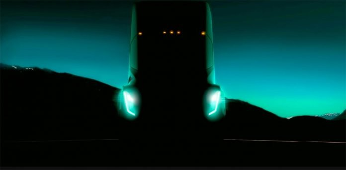 Elon Musk gives us a glimpse of Tesla's electric semi truck