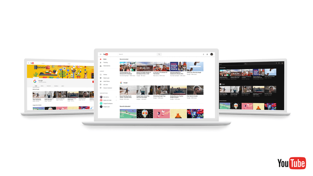 YouTube has a minimalist new design that looks a lot like Android