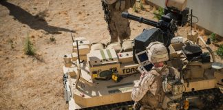 U.S. Marines can pilot this machine gun-wielding mini tank from a tablet