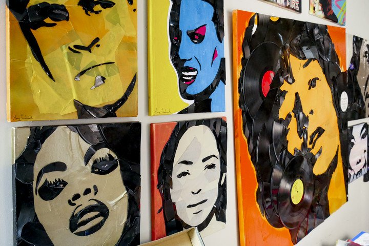 greg frederick vinyl pop art broken record interview portraits