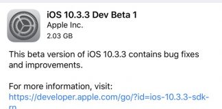 Apple Seeds First Beta of iOS 10.3.3 to Developers