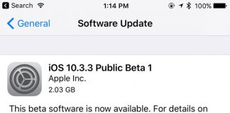 Apple Seeds First Beta of iOS 10.3.3 to Public Beta Testers