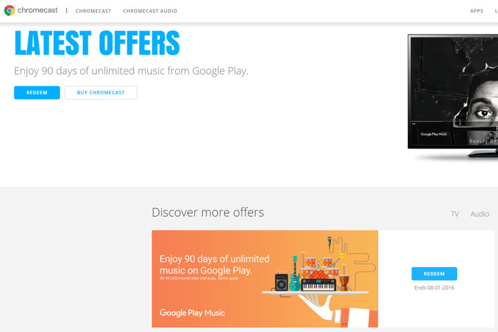 chromecast offers screenshot