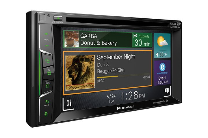 pioneer nex in dash receivers with carplay android auto single din avh