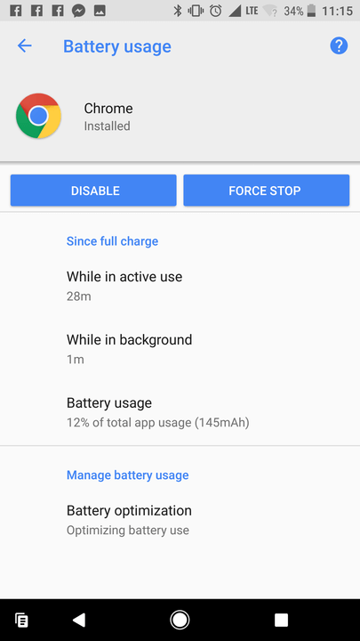android o battery settings