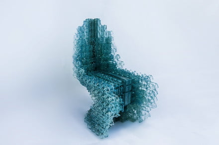 Robot-made Voxel chair is 3D printed from a single, unbroken strand of plastic