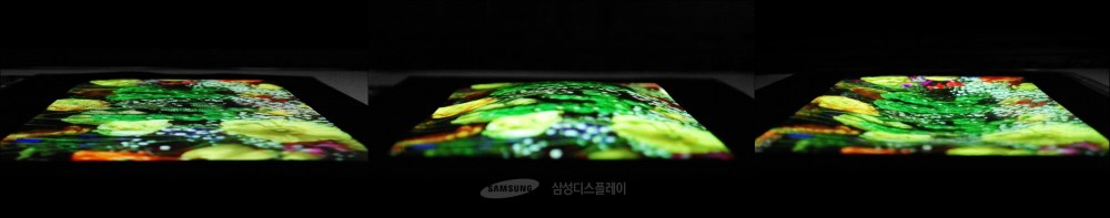 Samsung 9.1-inch 'stretchable' OLED with pushing comparison